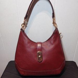 NWT COACH Amber Hobo in Wine Leather